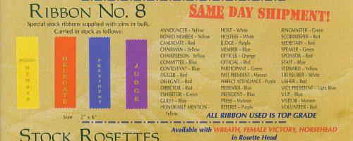 Stock Ribbons & Rosettes